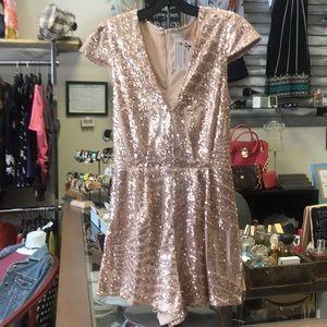 Rose gold sequin Charlotte Russe romper